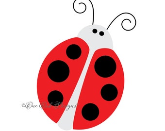 Lady Bug Ladybug SVG File PDF / dxf / jpg / png / eps / ai / for Cameo, for Cricut & other electronic cutters