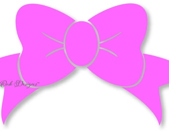 Bow svg dxf pdf eps png jpg Silhouette Studio Design Files for Cameo, Cricut Explore & Electronic Cutters