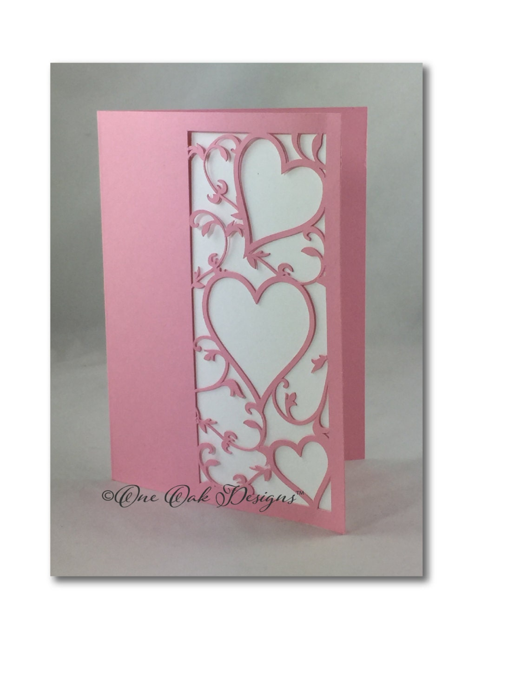 File Cards 10 Heart Svg: Filigree Heart Card SVG File Dxf / Pdf / Eps / Png/ Ai / Jpg