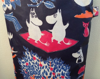 Moomin baby wet swim toiletry beach pouch bag purse, OIL cloth, from Finland