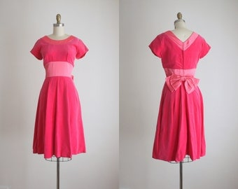 1960s velvet and satin party dress
