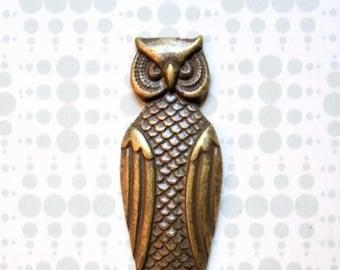 Owl Brass  Bottle Opener