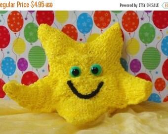 HALF PRICE SALE madmonkeyknits- Nursery Starfish Toy pdf download knitting pattern - Instant Digital File pdf download knitting pattern