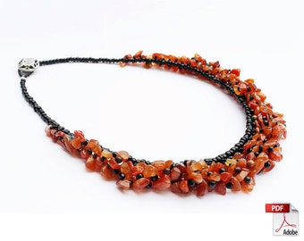 Gem Beaded Necklace PDF Tutorial