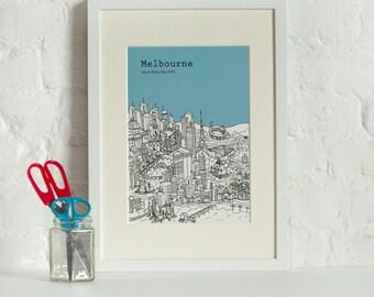 Personalised Melbourne Print