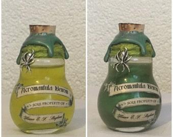 Acromantula Venom, A Harry Potter Inspired, Color Change Potion Bottle