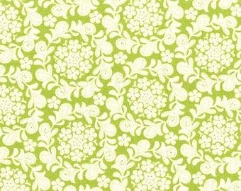 Petit Henna Garden Grass Green Sandi Henderson Michael Miller Fabric, Choose your cut
