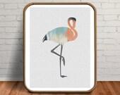 Flamingo Print, Flamingo Painting, Bird Print, Flamingo Art, Abstract Painting, Bird Painting, Flamingo, Tropical Wall Art, Flamingo Gifts