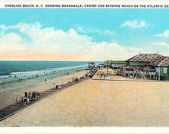 Vintage North Carolina Postcard - Carolina Beach (Unused)