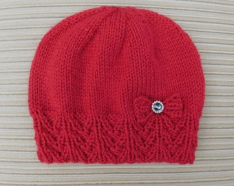 "Instant Download Knitting Pattern #221 Hat ""Alessya"" for a Lady"
