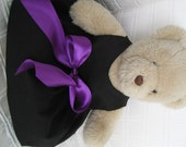 Black Bear Dress with Purple Ribbon