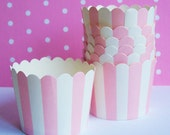 20 Striped Baking Cups Candy Nut Cups Stand Alone