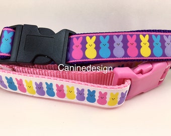 SALE, Dog Collar, Easter Bunny Pack, 1 inch wide, adjustable, quick release, metal buckle, chain, martingale, hybrid, heavy nylon