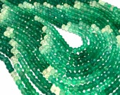 Green onxy faceted rondells shaded color AAA quality