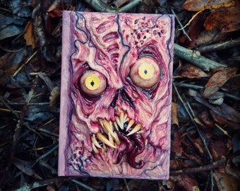 Necronomicon blank sketch book with sculpted cover 4x6 ooak