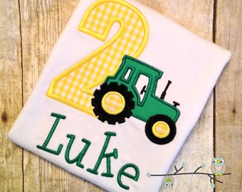 Tractor Birthday Shirt - Personalized