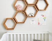 Hexagon Shelves | Honeycomb Shelves | Floating Shelves | Geometric Shelves | Wood Shelves | Modern Shelves