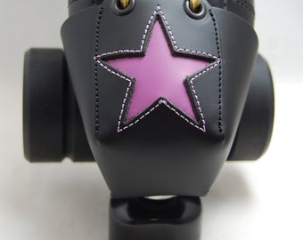 Leather Toe Guards with Lavender Stars