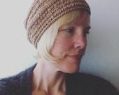 Ariel slouchy hat - knitting pattern - pdf