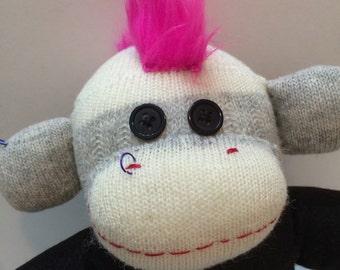 Cora the Punk Sock Monkey