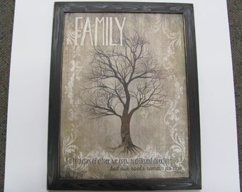 Family-Like Branches Of A Tree, Distressed Frame, Roots Remain As One, Framed Artwork,Marla Rae201/2x261/2
