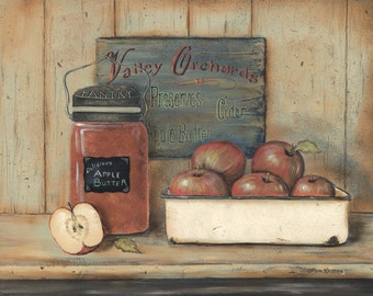 Kitchen Wall Decor,Primitive Kitchen Wall Decor,Country Kitchen Wall Decor,Apple  Butter