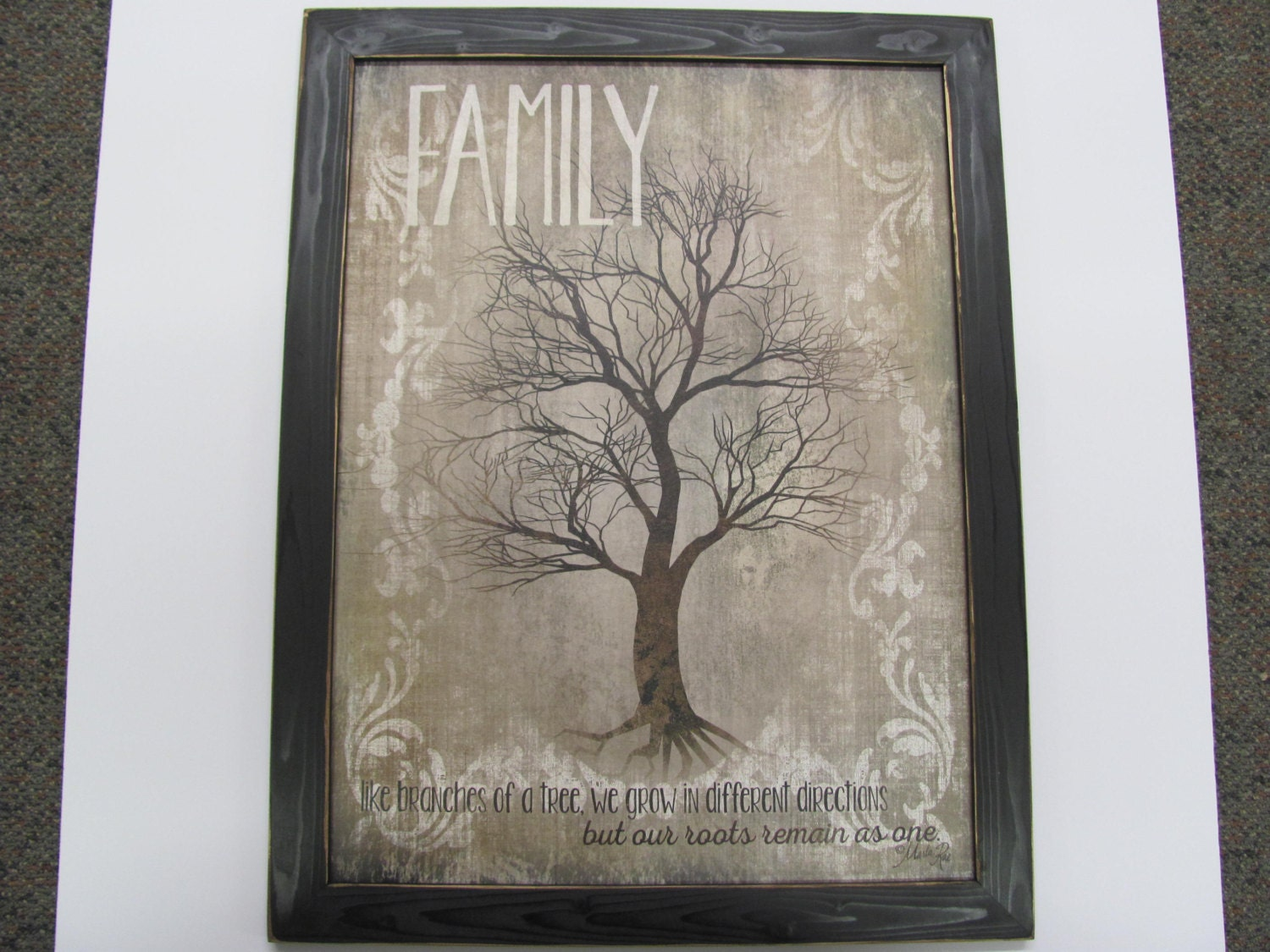 Family-Like Branches Of A Tree Distressed Frame Roots Remain