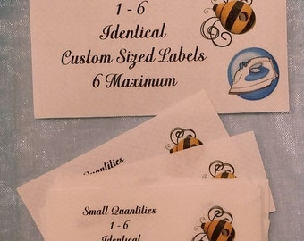 Sample Package Iron On Cotton Custom Clothing Labels 6 Maximum