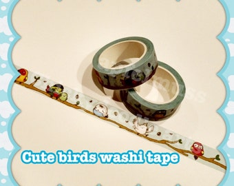 Bird themed Washi Tape