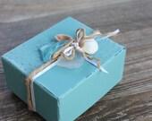 Beach Wedding Driftwood , Seaglass & Shell Keepsake Gift Box / Gift Card Holder