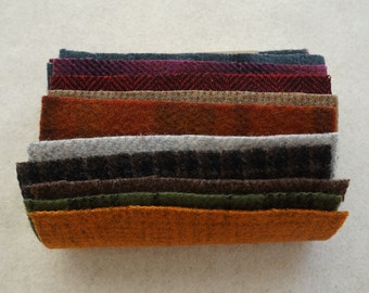 Woolen Charm Pack - Primitive Gatherings Hand Dyed Wool in a combination of colors