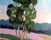 Impressionist Plein Air Oil Painting CALIFORNIA Eucalyptus Landscape Art 16x20 Lynne French
