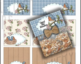 Pretty Bird Bag Toppers - Immediate Download