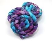 Merino Wool/ Bamboo/ Silk Roving (Combed Top) - Handpainted Roving for Spinning