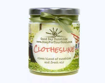 Clothesline Scented Handpoured Soy Candle