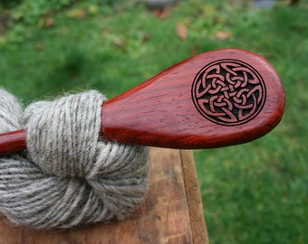 Reserved Listing- Celtic Knot Hairstick - Handmade Wooden Shawl Pin/Hairstick - Eco Knitting Supplies