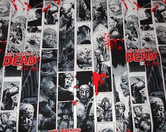 Last Piece - Hard-to-Find THE WALKING DEAD Vertical Comic Stripe Fabric by Robert Kirkman
