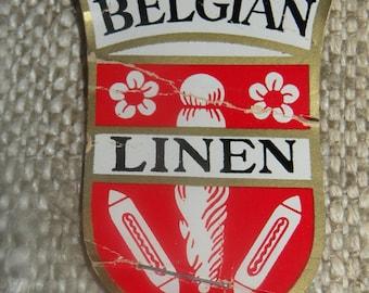 Belgian Linen Fabric  26 1/2 X 53 1/2