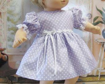 Lilac Dots and Daisies Dress and Panties for Bitty Baby