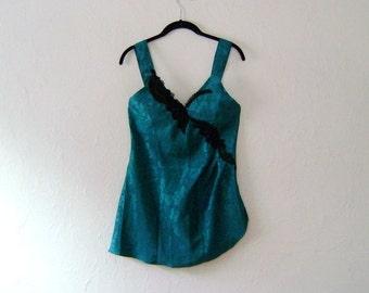 ON SALE 50% OFF Emerald Forrest Vintage NIghtie - Victorias Secret size P
