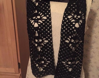 Lacey skull scarf