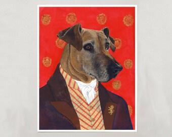 Art Print - Rhodesian Ridgeback - Signed by Artist - 8x10 // 16x20 // 22x28