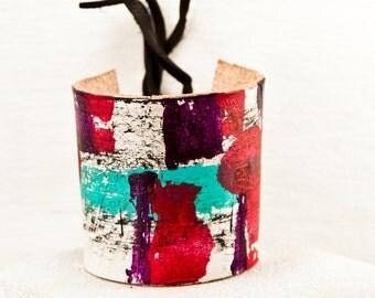 Arty Jewelry Unique Bracelet Shopping -Original Trending Items - Leather Cuff Bracelet