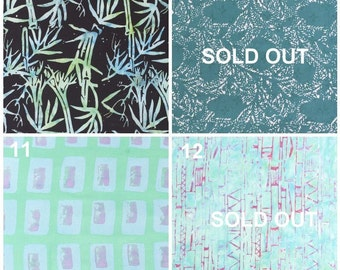 Batik Fabric Samples for Custom Orders - Not For Sale - Updated 15 August 2016