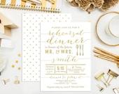 SALE. Digital Printable Faux Press Rehearsal Dinner Invitations. Bridal. Gold Press Invitations. Bridal Shower. Engagement. Wedding. Silver.