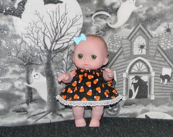 8LC1-88) 8 inch Lil Cutesies Berenguer baby doll clothes, 1 halloween dress with panties