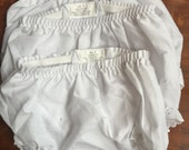 DESTACHING!  Girls White Bloomer Lot