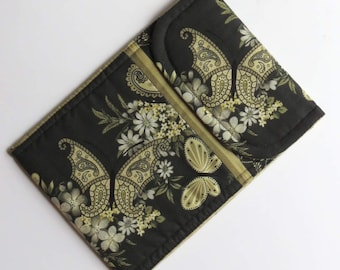 Tech Sleeve or Case for Kindle eReader, Green Butterfly and Flowers