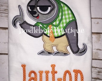 Zootopia Flash sloth shirt with name