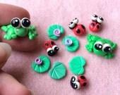 Froggies, Lilypads and Ladybugs